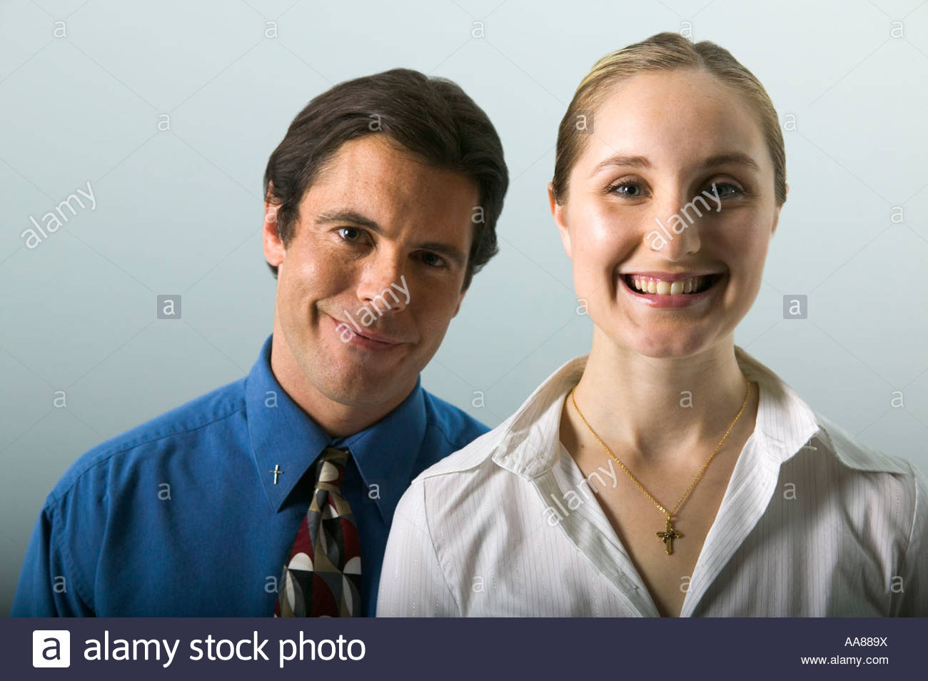 couple smiling stock photo