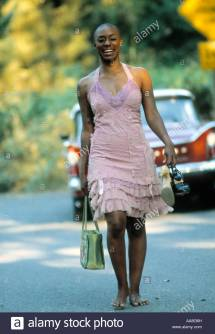 African American Women Walking Barefoot