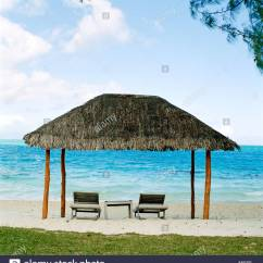 Beach Lawn Chairs Bedroom Chair Perth Hut Covering On Tropical Stock Photo 12549561 Alamy