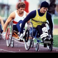 Wheelchair Olympics Under Chair Table Tray Racing Paraplegics Stoke Mandeville Hospital England United Kingdom