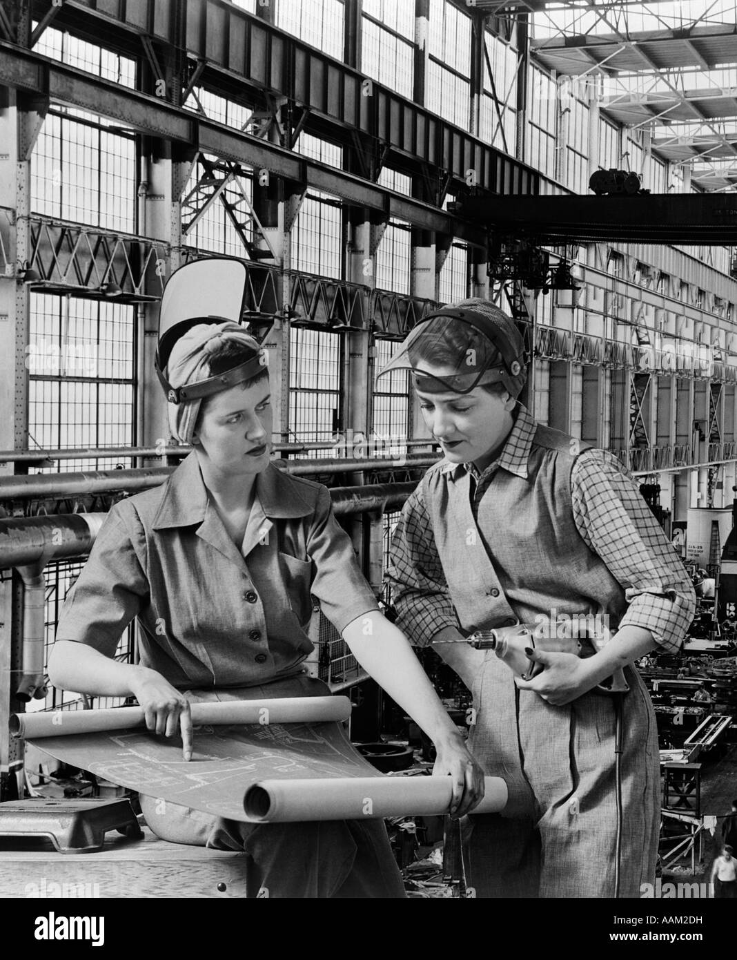 S Workers Blueprints Industry Women Woman Wartime