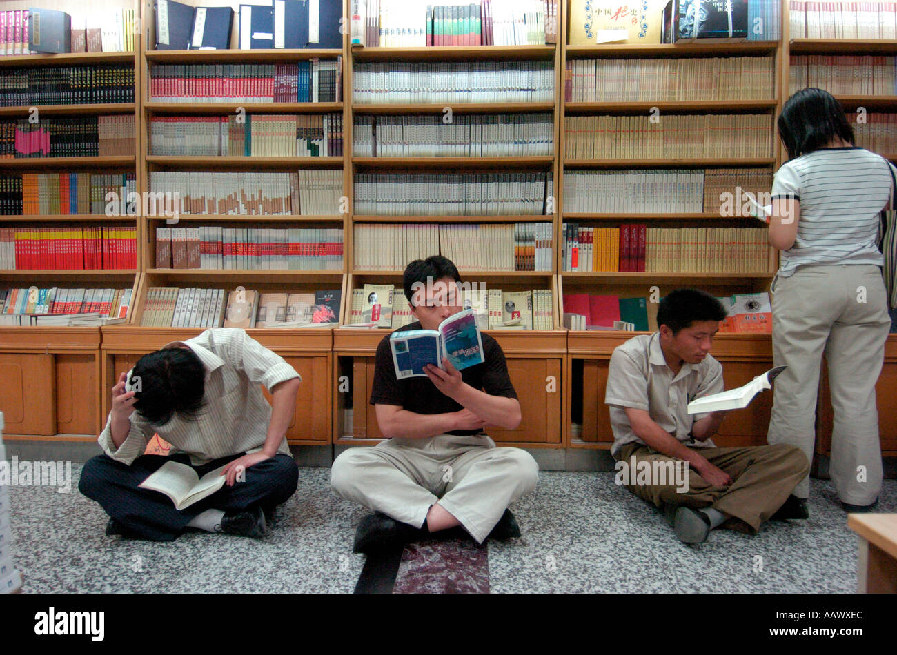 People Reading Books In A Large Beijing Bookshop China