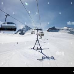 Buy Ski Lift Chair Humanscale Diffrient World White Triple At Kumme Zermatt Stock Photo
