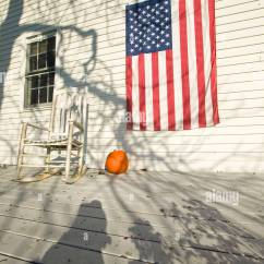 Newport Rocking Chair Baby Shower Chairs Ideas American Flag Pumpkin And On Porch Of Home In Rhode Island