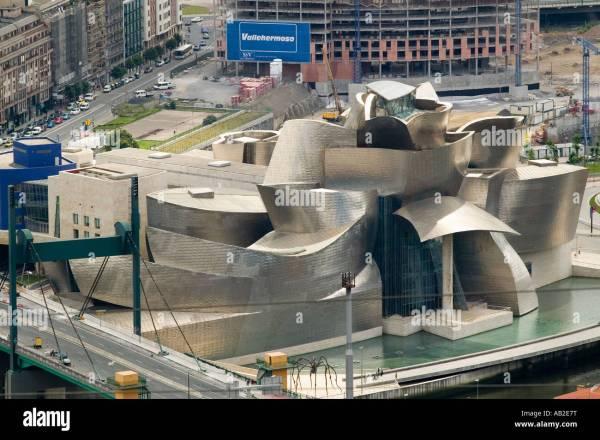 Aerial View Of Guggenheim Museum Contemporary Art