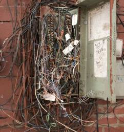 messy telephone wiring wiring diagram usedold telephone junction box stock photos u0026 old telephone junction [ 866 x 1390 Pixel ]