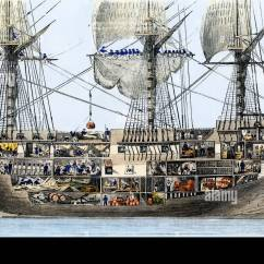 Pirate Ship Inside Diagram Spotlight Wiring Ford Ranger Hull Of An American Man War Cutaway Deck Plans And Crew Stock Photo: 12908319 - Alamy