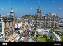 Princes Street Edinburgh Scotland. View Scott