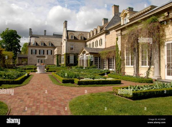 George Eastman House Garden Rochester Ny Usa Stock