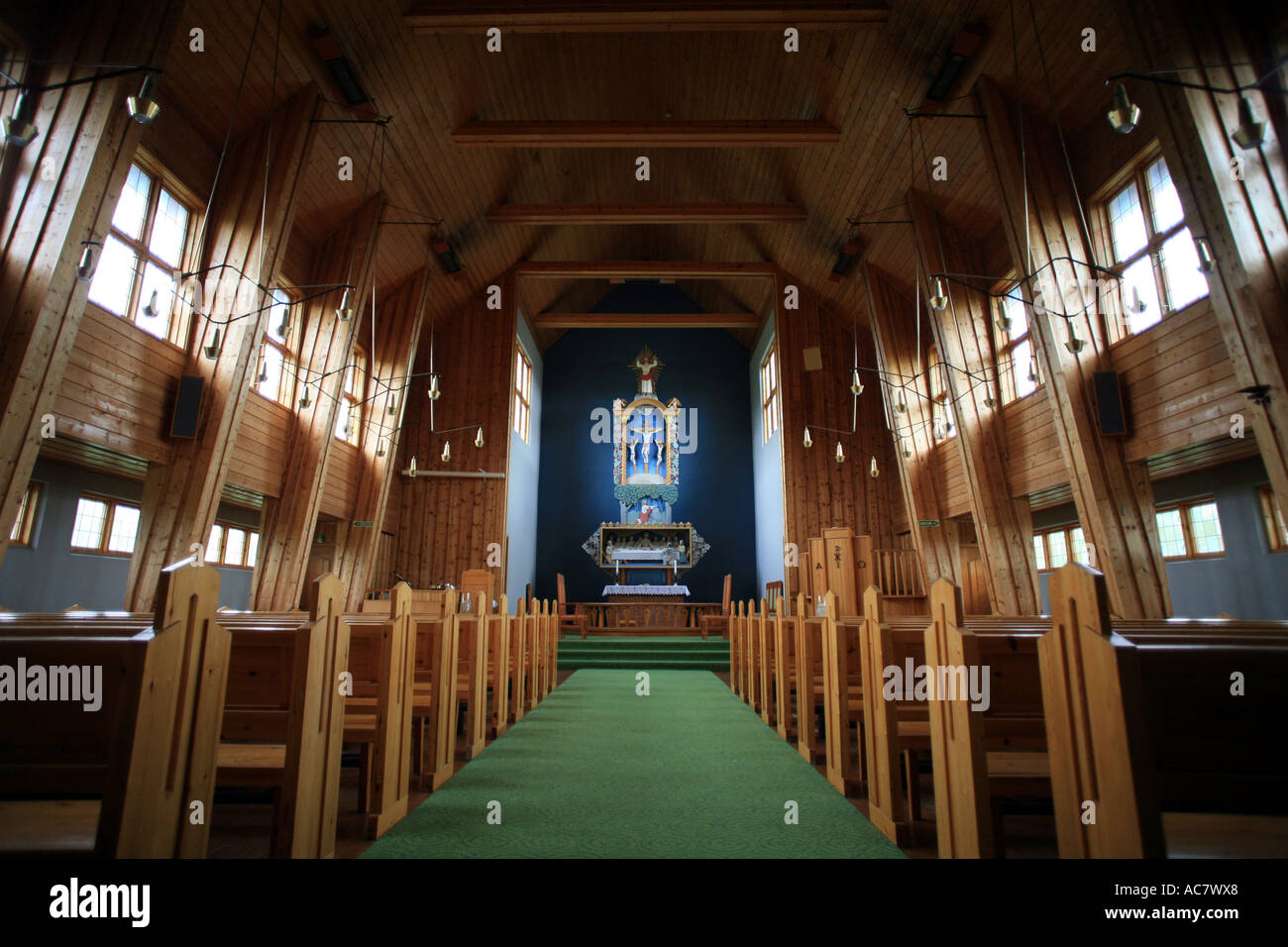 inside protestant church diagram bmw radio wiring e39 traditional norway stock photo