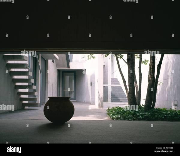 Kidosaki House Tokyo. Architect Tadao Ando Stock