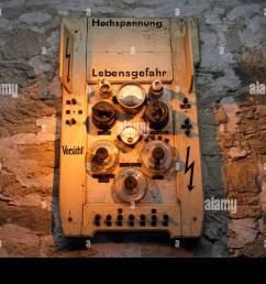 historic fuse box roentgen cabinet from 1905 exhibit at german roentgen museum remscheid [ 1300 x 956 Pixel ]
