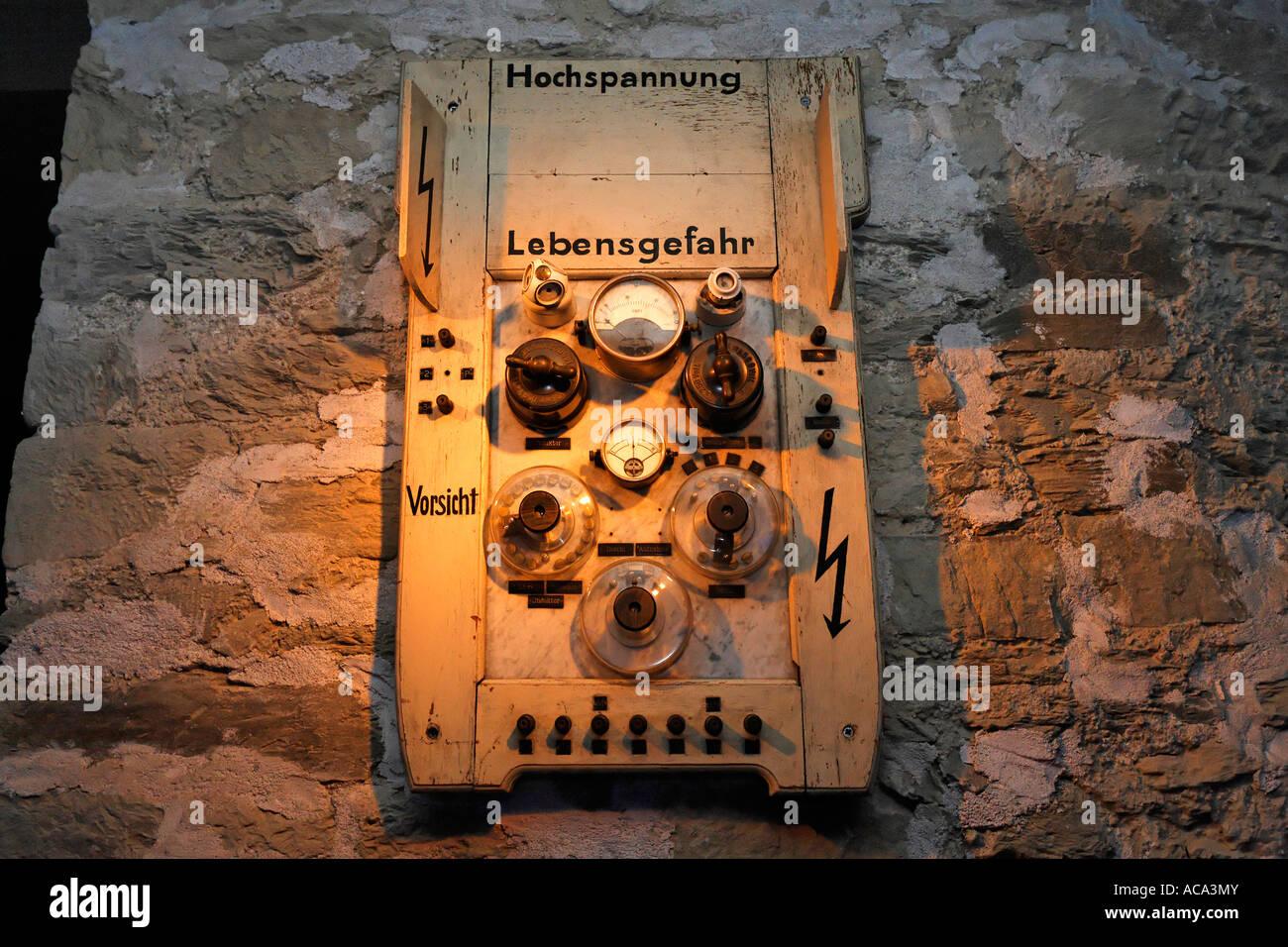 hight resolution of historic fuse box roentgen cabinet from 1905 exhibit at german roentgen museum remscheid