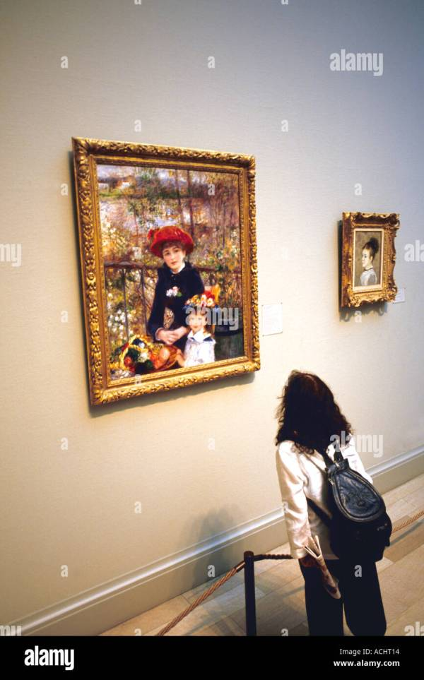 12 Year Child Admiring Painting Of Renoir Two
