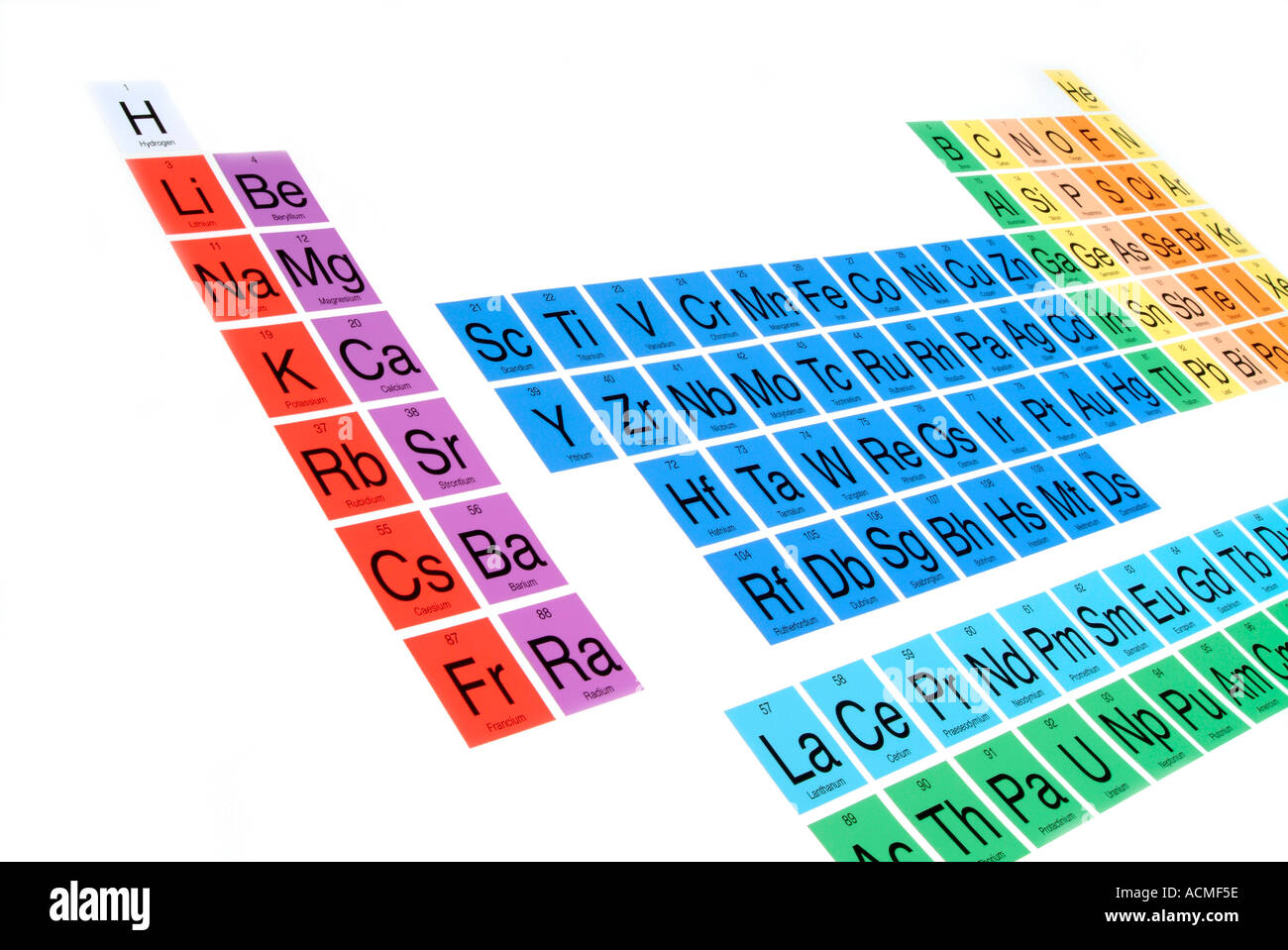 hight resolution of periodic table stock image