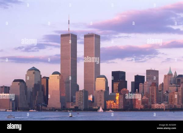World Trade Center Sunset York City Usa Pre 911 Stock 2466312 - Alamy