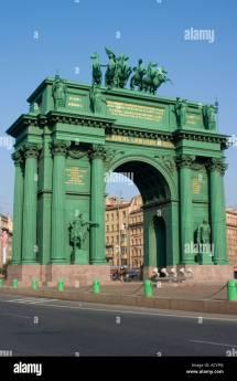 Narva Triumphal Gate . Stachek Square St .petersburg