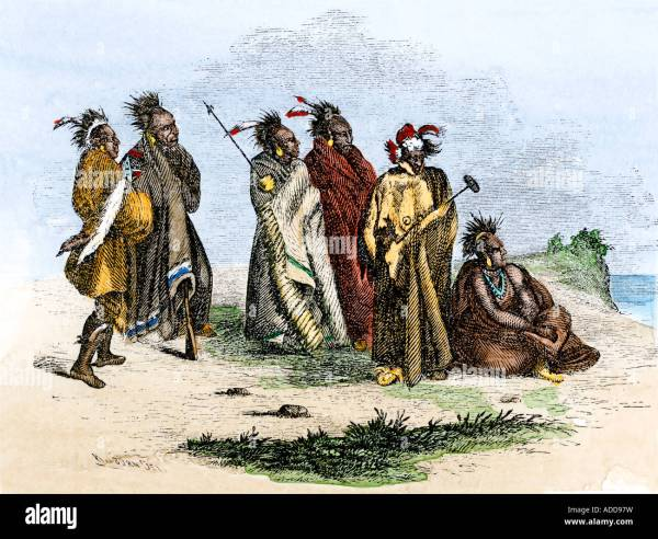 Sauk and Fox Indians Algonquian speaking woodlands people