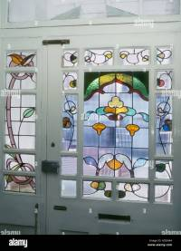 Decorative Art Nouveau Stained Glass front door taken from ...