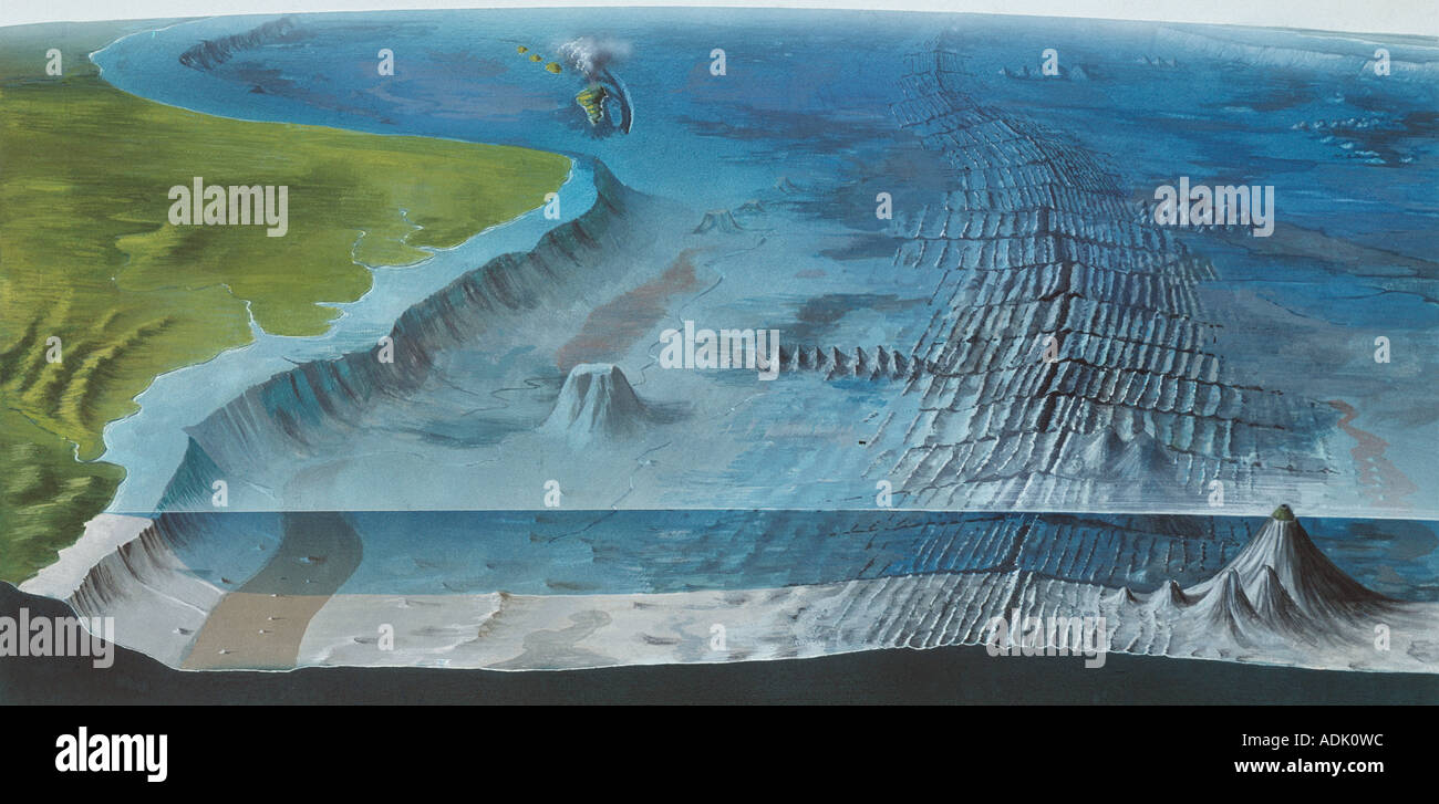 hight resolution of ocean floor stock image