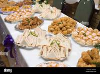 food buffet table at a wedding reception in the UK Stock ...