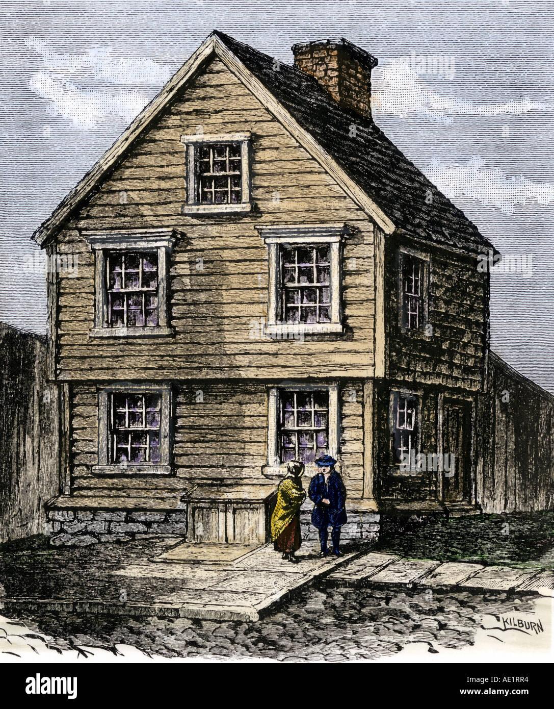 Birthplace Of Benjamin Franklin In Boston Massachusetts