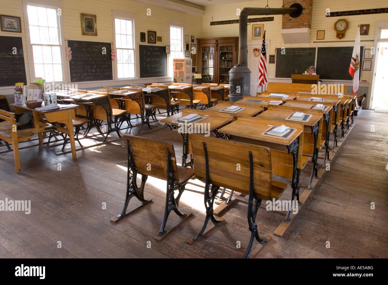 Classroom In Replica Of S Era One Room Schoolhouse