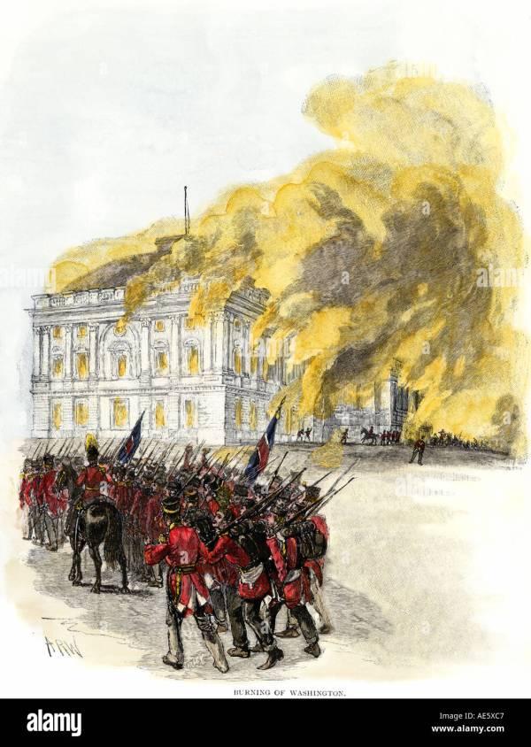 Burning Of Washington Dc Stock &