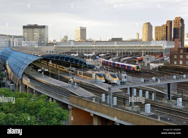 View Of London' Waterloo Train Station And Eurostar Terminal Stock Royalty Free