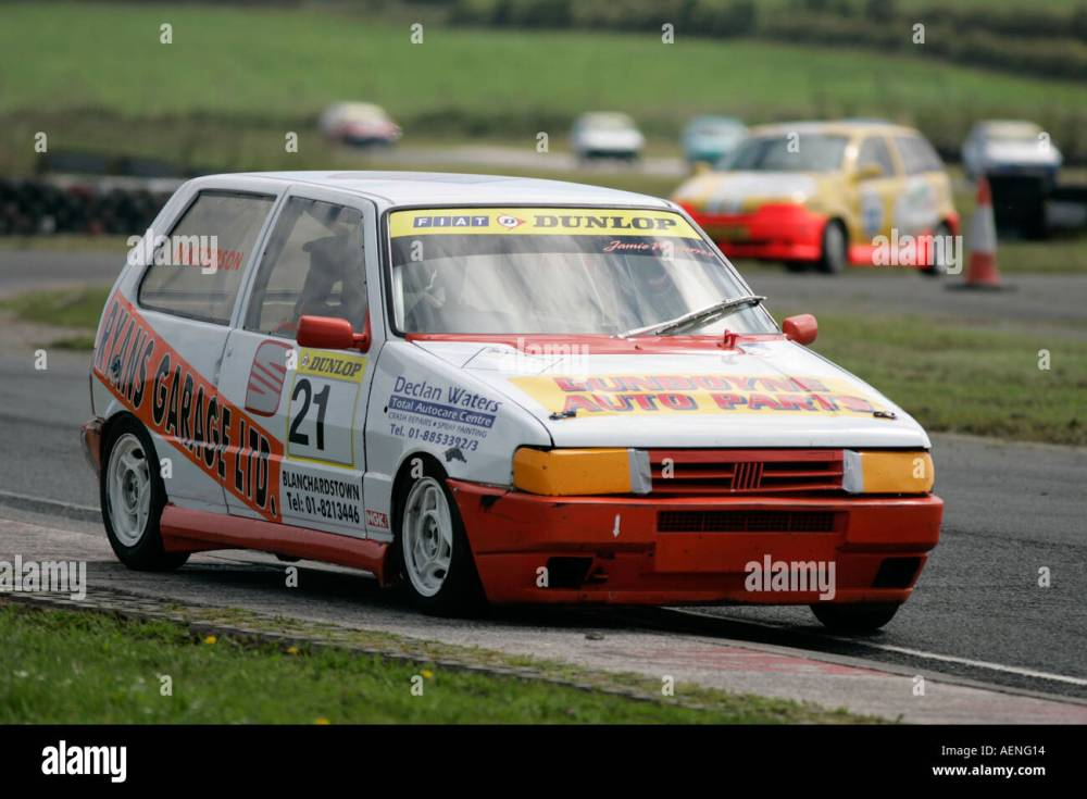 medium resolution of fiat uno punto racing at kirkistown circuit county down northern ireland stock image