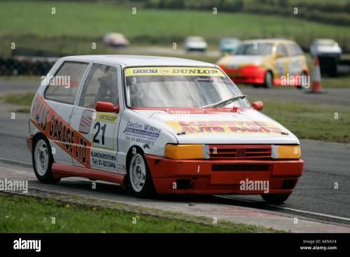 small resolution of fiat uno punto racing at kirkistown circuit county down northern ireland stock image
