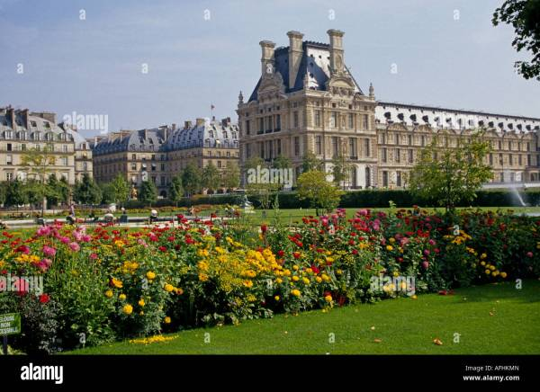 Louvre Tuileries Gardens Paris
