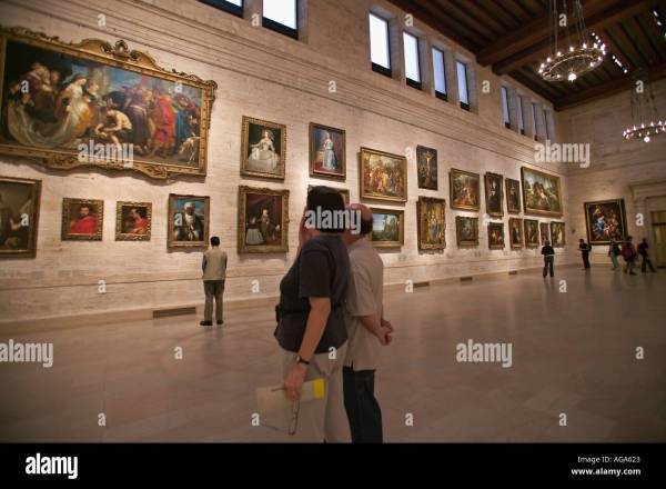 European Oil Painting Display Hall Museum Of Fine Arts Boston Stock Royalty Free