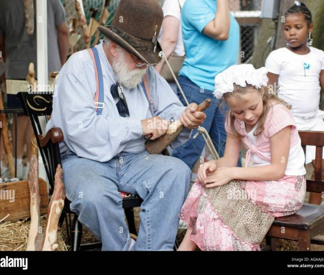 Old Man And Young Girl In Old Fashioned Dress