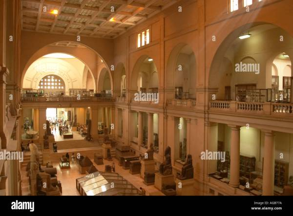 Interior View Of Egyptian Museum Stock