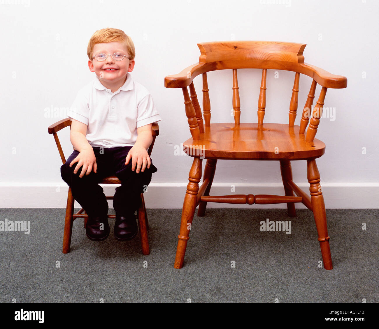 little boy chairs chair cover hire barnsley and large stock photo 1113618 alamy