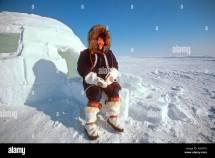 Alaskan Eskimo Woman Sitting Igloo Nome Ak Western