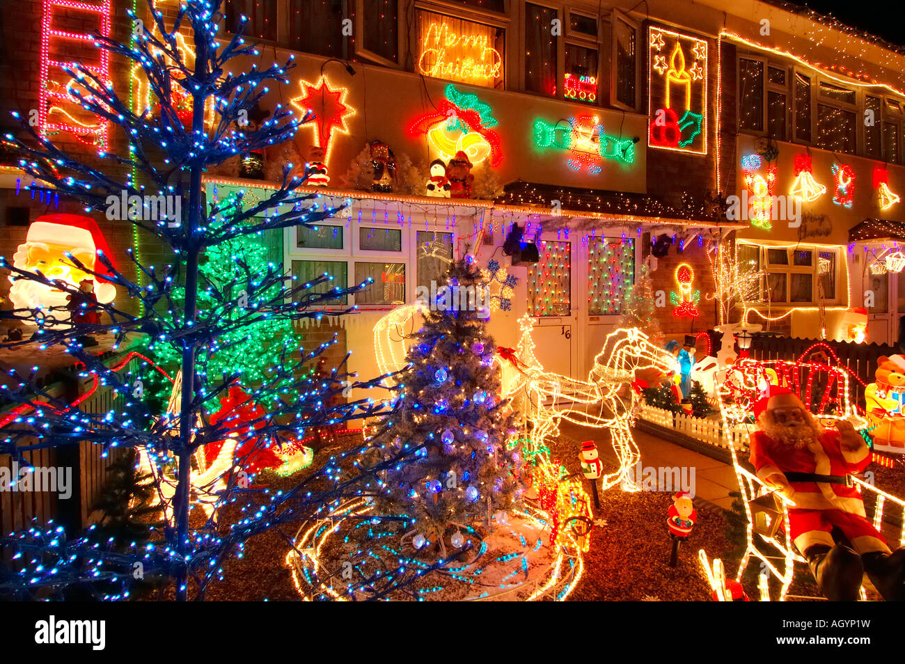 Tacky Christmas Decorations House High Resolution Stock Photography And Images Alamy