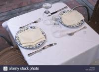 Dinnerware Setting On A Table