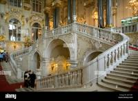 Russia St.Petersburg Winter Palace Grand staircase Stock ...