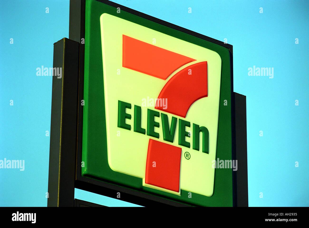 7 Eleven Sign Usa Stock Photo