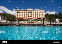 Grand Hotel Tremezzo Lake Como Stock &