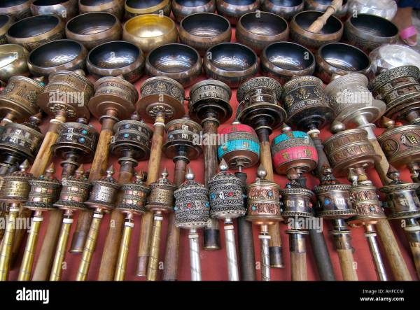 Nepalese And Tibetan Handicrafts Including Prayer Wheels