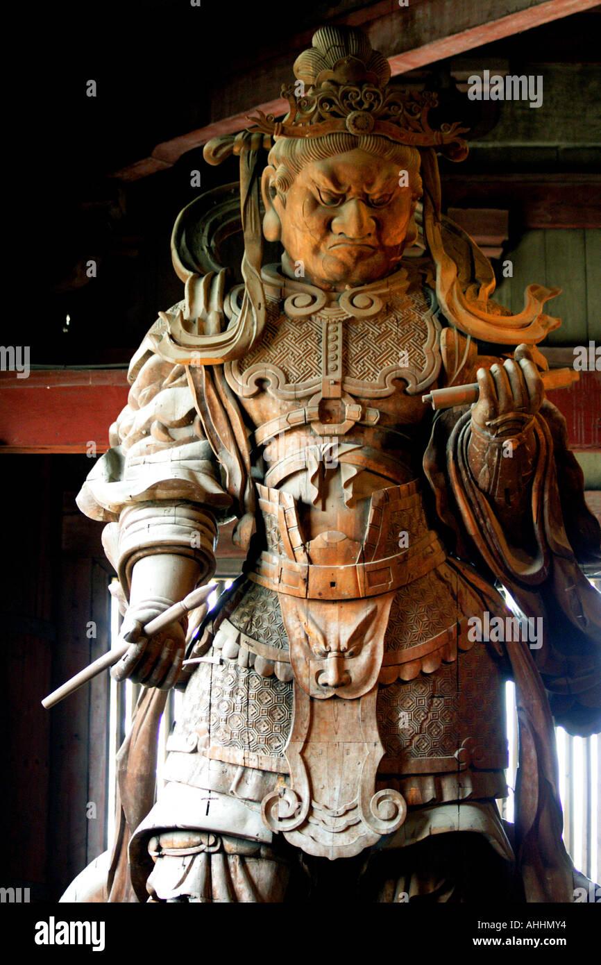 Todaiji Temple Guardian Deity. Nara. Japan Stock Photo - Alamy