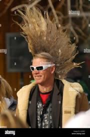 mohawk haircut stock &