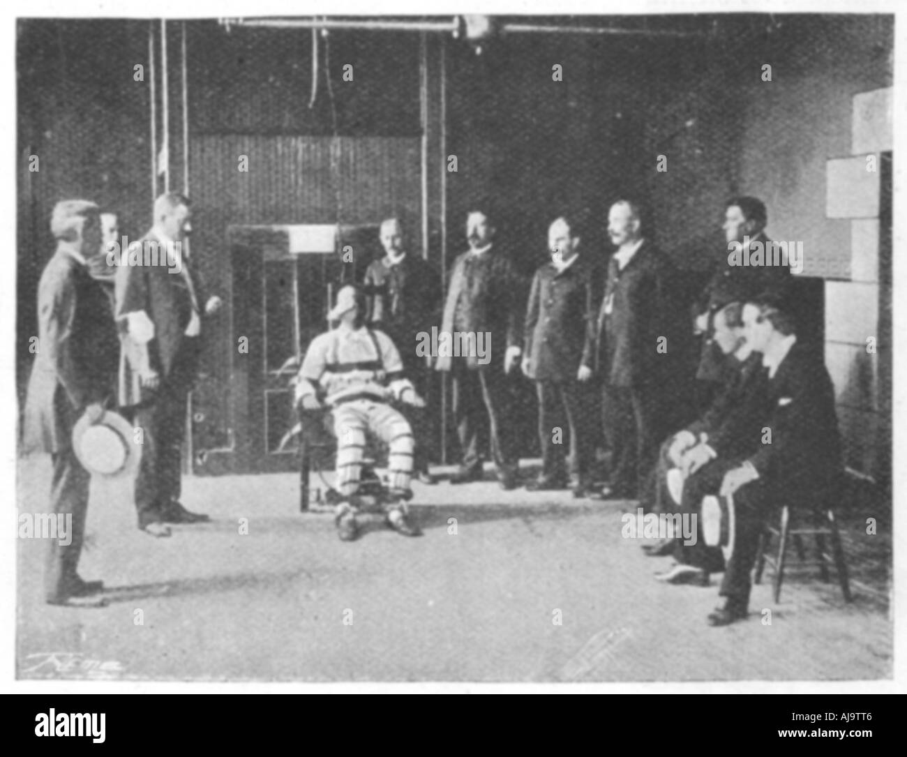 execution by electric chair phil and ted high united states 1898 stock photo
