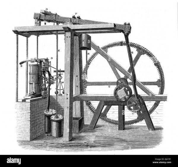 James Watt Prototype Steam Engine Bess C1778 Stock