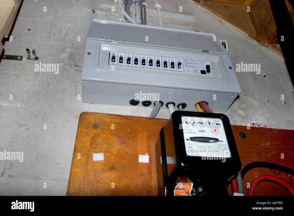 medium resolution of uk electrical fuse box under stairs of house with standard electricity meter stock image