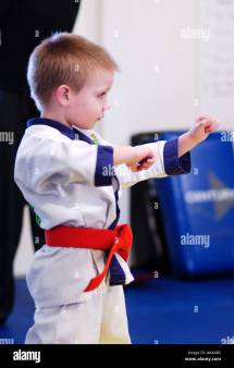 Karate Class Stock & - Alamy