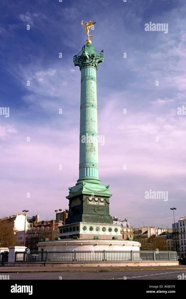 Bastille Monument Place De La In Paris